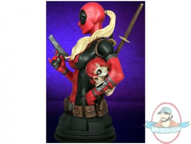Lady deadpool with headpool exclusive mini bust by gentle for Headpool