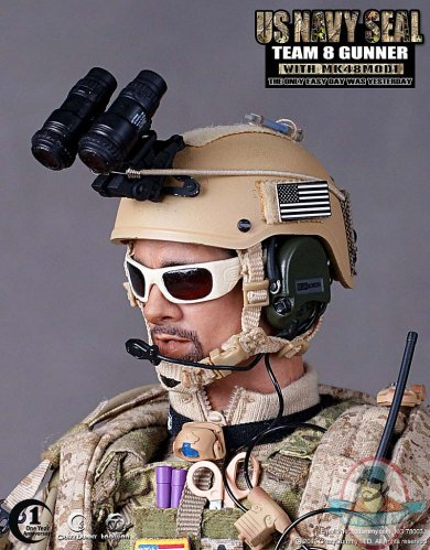 Crazy Dummy Us Navy Seal Team 8 Gunner With MK48MOD1 1/6th Scale